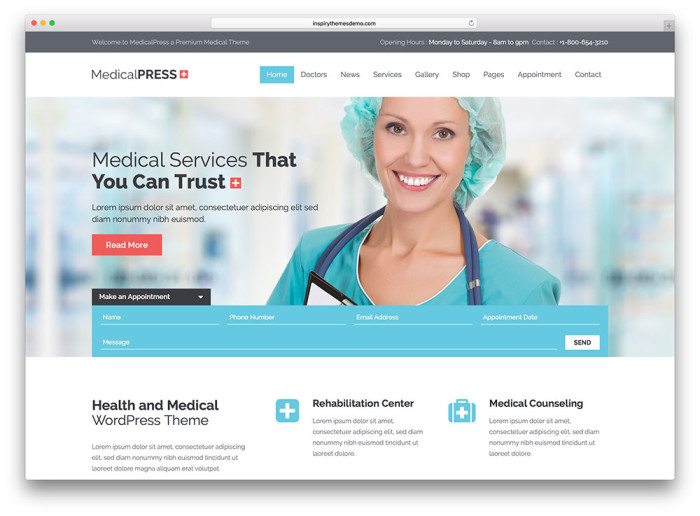 Best Medical Wordpress Themes • Neoxica™
