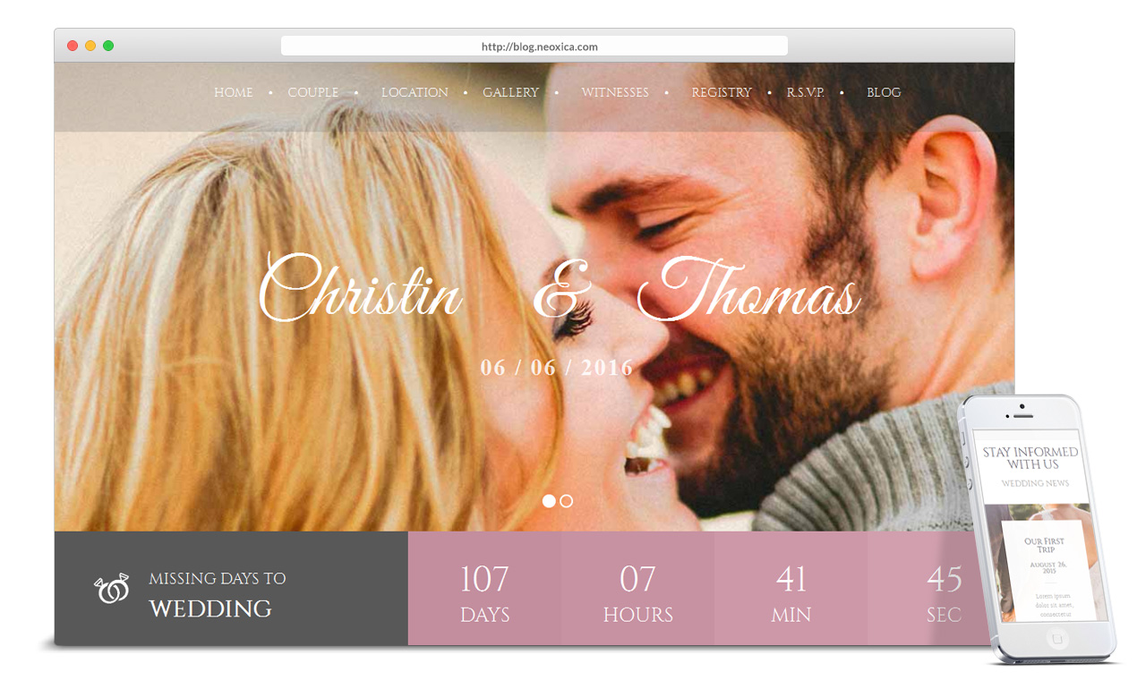 wedding-website-with-countdown