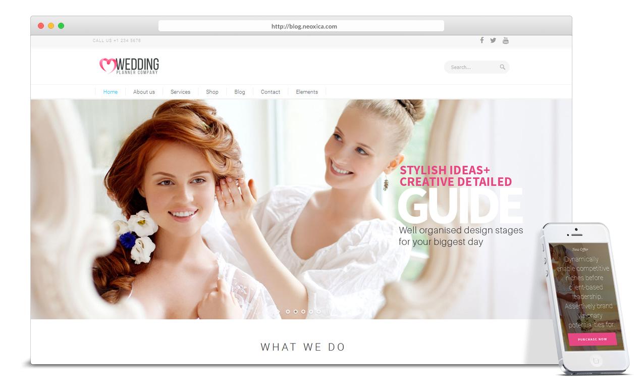 Wedding Planner Wordpress Theme Wedding Decor Ideas