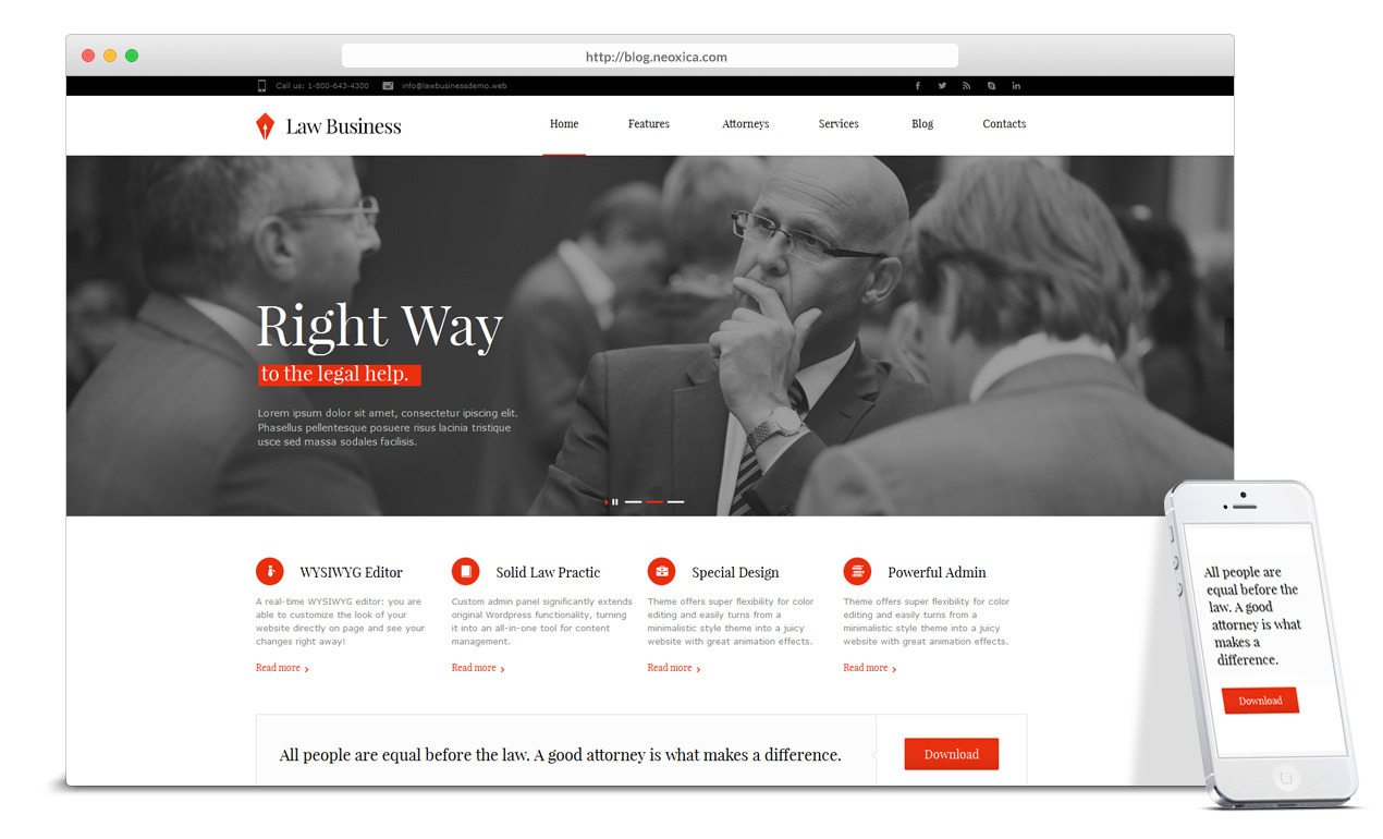 clean-webdesign-for-lawyer-attorney