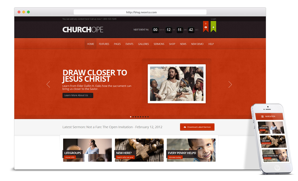 church-event-news-wordpress-theme