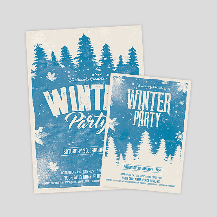 Winter Flyer Template  PetitComingoutpolyCo