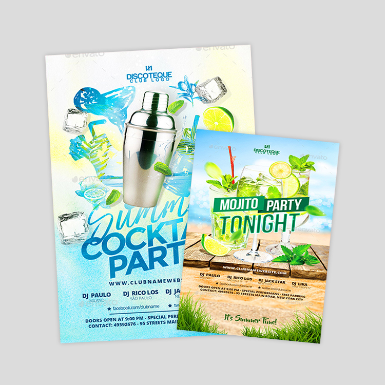 cocktail-party-flyer-design