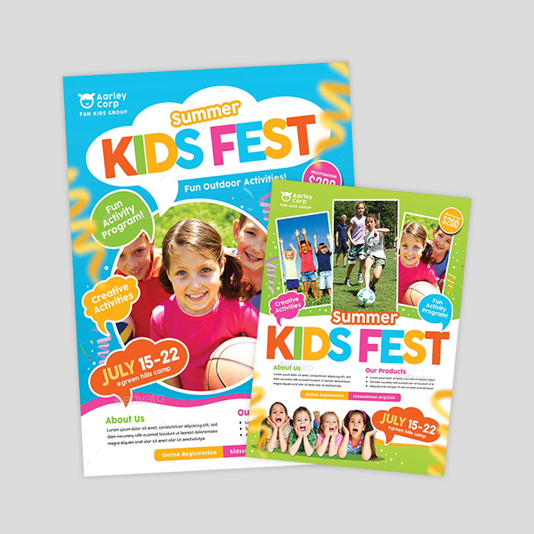 kids-summer-festival-flyer-design