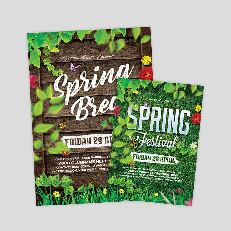 spring-festival-flyer-designs