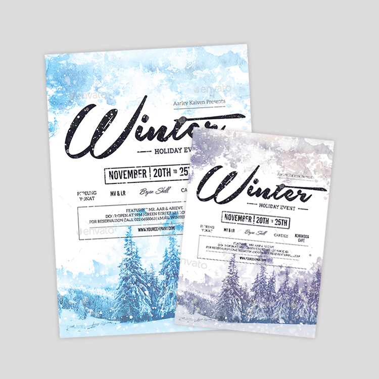 Best Winter Flyer Design  Templates  Neoxica