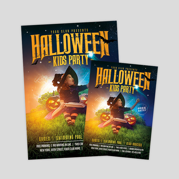 kids-halloween-party-flyer-design