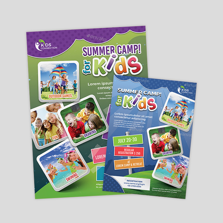 kids-summer-camp-flyer-design