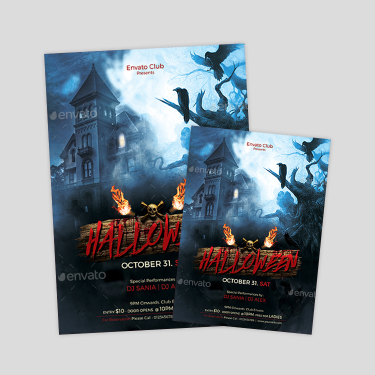haunted-house-psd-flyer-design-template
