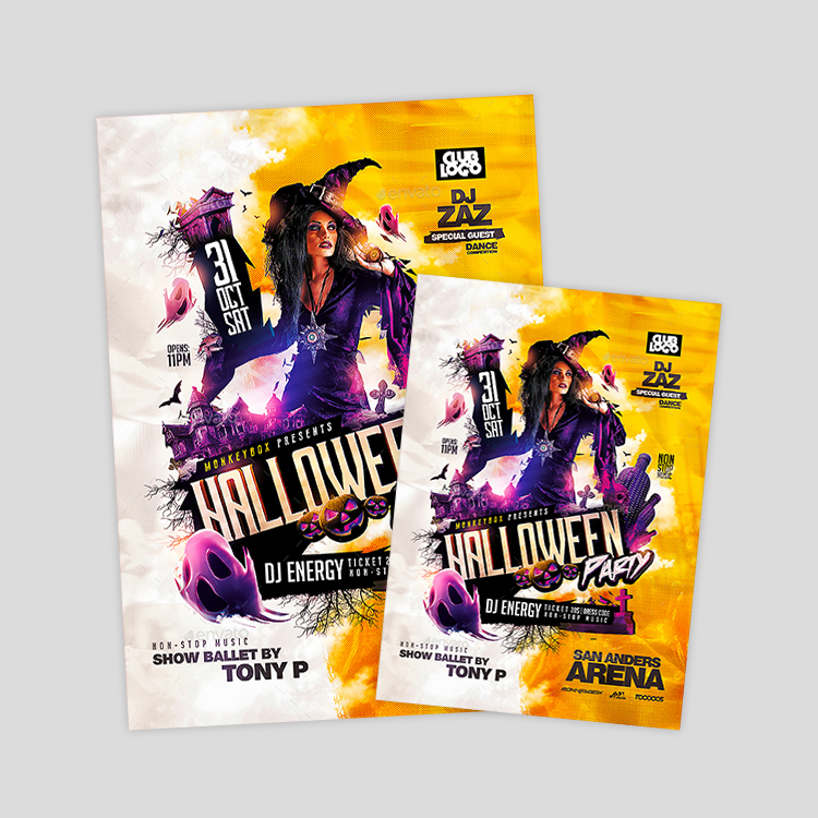 funky-halloween-psd-flyer-design-template