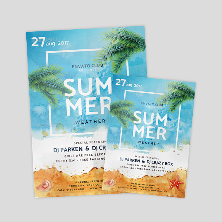 minimalist-summer-flyer-designs