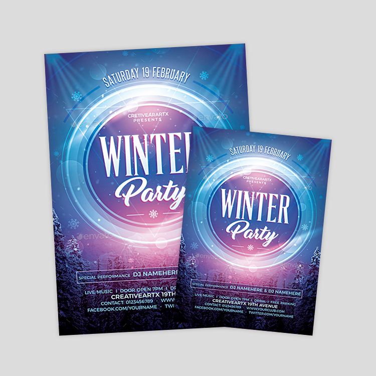 elegant-winter-psd-flyer-template