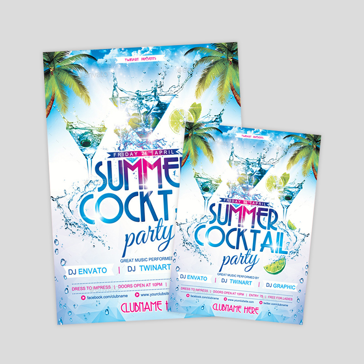 summer-cocktail-party-flyer-design