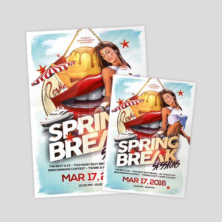 vintage-spring-break-flyer-design