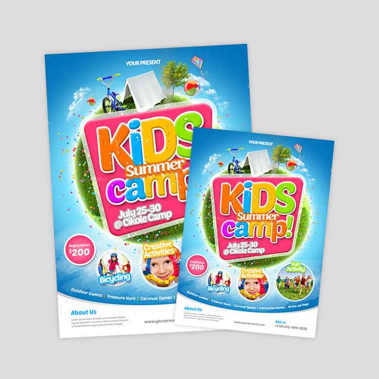 kids-camp-flyer-designs