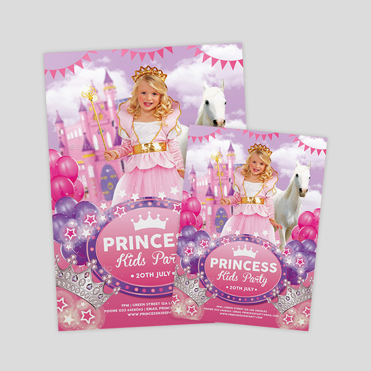 kids-princess-birthday-flyer