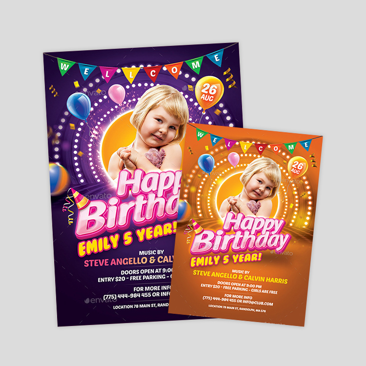 kids-birthday-party-flyer