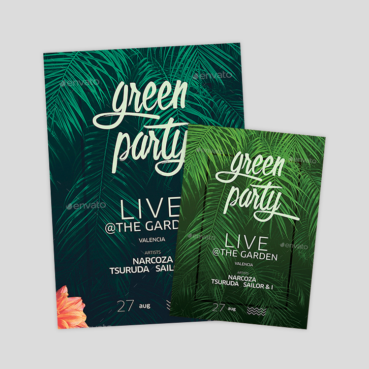 green-tropical-flyer-designs