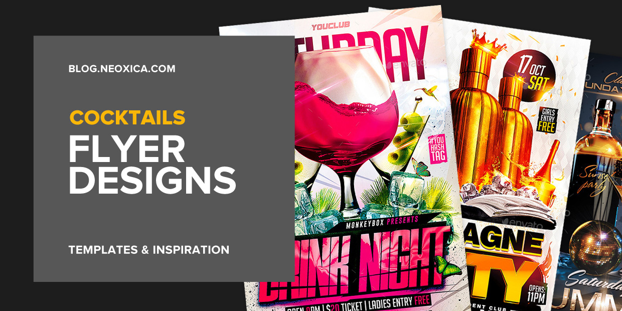 neoxica top 13 cocktails party flyer designs templates 2017