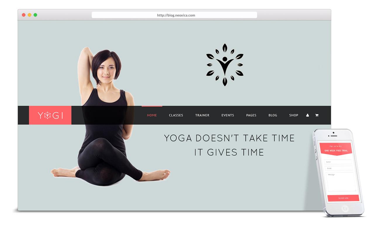 Neoxica • Top 10 WordPress Themes for Yoga Studio ...