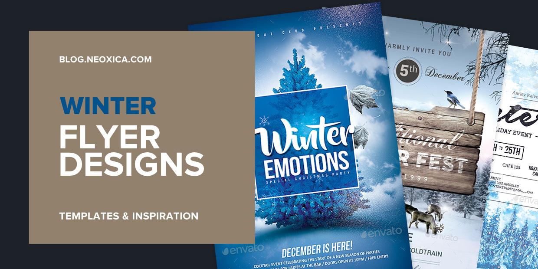 winter psd flyer template